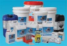 Swimming pool chemicals, equipment and spares